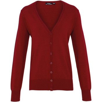 Abbigliamento Donna Gilet / Cardigan Premier Button Through Bordeaux