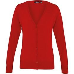 Abbigliamento Donna Gilet / Cardigan Premier Button Through Rosso