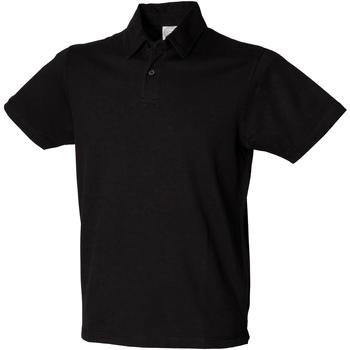Abbigliamento Uomo Polo maniche corte Skinni Fit SFM42 Nero