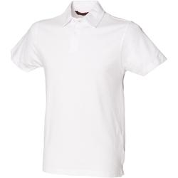 Abbigliamento Uomo Polo maniche corte Skinni Fit SFM42 Bianco