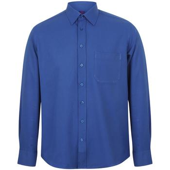 Abbigliamento Uomo Camicie maniche lunghe Henbury HB590 Blu reale