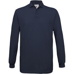Abbigliamento Uomo Polo maniche lunghe B And C PU414 Blu navy