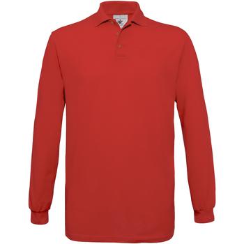 Abbigliamento Uomo Polo maniche lunghe B And C PU414 Rosso