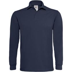 Abbigliamento Uomo Polo maniche lunghe B And C PU423 Blu navy