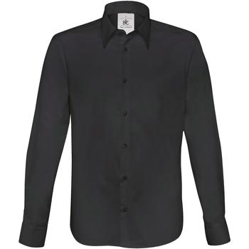 Abbigliamento Uomo Camicie maniche lunghe B And C SM580 Nero