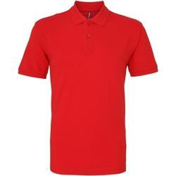 Abbigliamento Uomo Polo maniche corte Asquith & Fox AQ010 Rosso