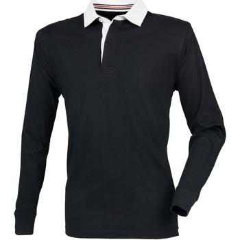 Abbigliamento Uomo Polo maniche lunghe Front Row FR104 Nero