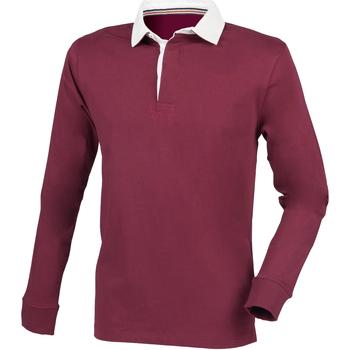 Abbigliamento Uomo Polo maniche lunghe Front Row FR104 Bordeaux