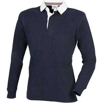 Abbigliamento Uomo Polo maniche lunghe Front Row FR104 Blu navy