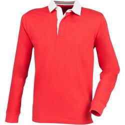 Abbigliamento Uomo Polo maniche lunghe Front Row FR104 Rosso
