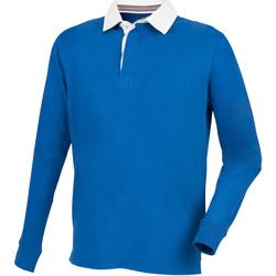 Abbigliamento Uomo Polo maniche lunghe Front Row FR104 Blu reale