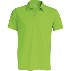 Abbigliamento Uomo Polo maniche corte Kariban Proact PA482 Verde lime
