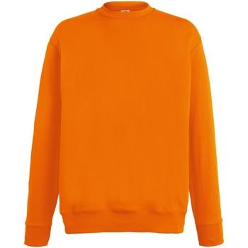 Abbigliamento Uomo Felpe Fruit Of The Loom SS926 Arancio
