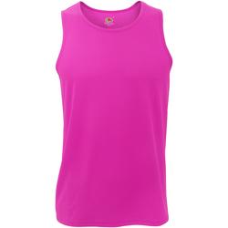 Abbigliamento Uomo Top / T-shirt senza maniche Fruit Of The Loom 61416 Fucsia