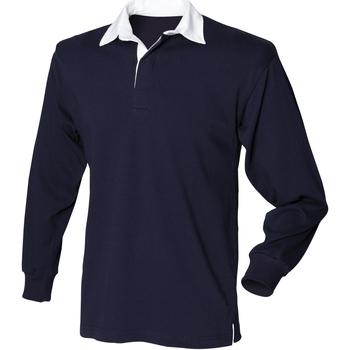 Abbigliamento Uomo Polo maniche lunghe Front Row Rugby Blu navy