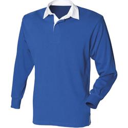Abbigliamento Uomo Polo maniche lunghe Front Row Rugby Blu reale