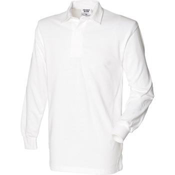 Abbigliamento Uomo Polo maniche lunghe Front Row Rugby Bianco