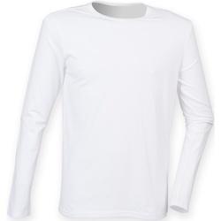Abbigliamento Uomo T-shirts a maniche lunghe Skinni Fit SF124 Bianco