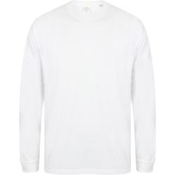 Abbigliamento Uomo Felpe Skinni Fit Slogan Bianco