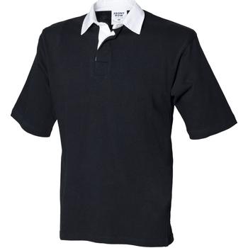Abbigliamento Uomo Polo maniche corte Front Row FR03M Nero
