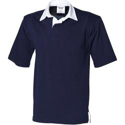 Abbigliamento Uomo Polo maniche corte Front Row FR03M Blu navy