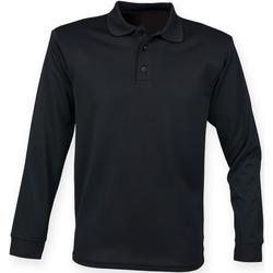 Abbigliamento Uomo Polo maniche lunghe Henbury HB478 Nero
