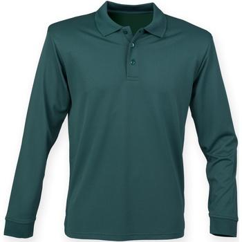 Abbigliamento Uomo Polo maniche lunghe Henbury HB478 Verde