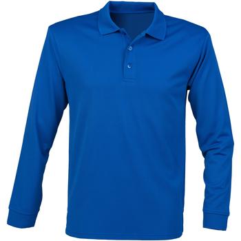 Abbigliamento Uomo Polo maniche lunghe Henbury HB478 Blu Reale