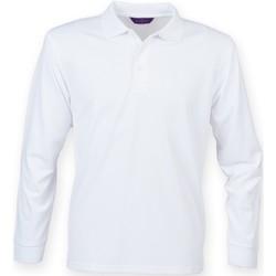 Abbigliamento Uomo Polo maniche lunghe Henbury HB478 Bianco