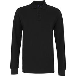 Abbigliamento Uomo Polo maniche lunghe Asquith & Fox AQ030 Nero