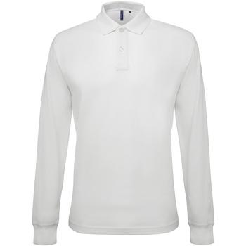 Abbigliamento Uomo Polo maniche lunghe Asquith & Fox AQ030 Bianco