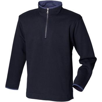 Abbigliamento Uomo Felpe in pile Front Row Soft Touch Blu navy