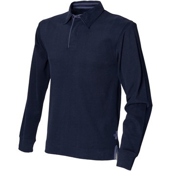 Abbigliamento Uomo Polo maniche lunghe Front Row FR43M Blu navy