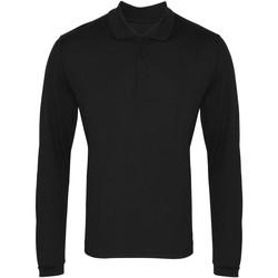 Abbigliamento Uomo Polo maniche lunghe Premier PR617 Nero