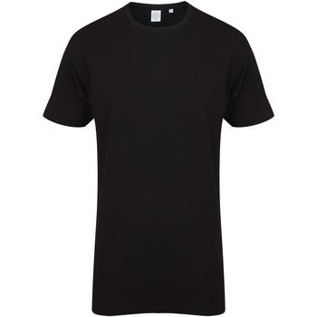 Abbigliamento Uomo T-shirt maniche corte Skinni Fit Dipped Hem Nero
