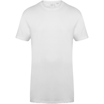 Abbigliamento Uomo T-shirt maniche corte Skinni Fit Dipped Hem Bianco