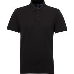 Abbigliamento Uomo Polo maniche corte Asquith & Fox AQ015 Nero