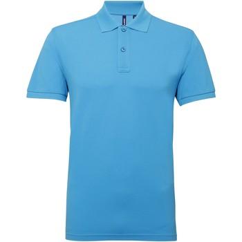 Abbigliamento Uomo Polo maniche corte Asquith & Fox AQ015 Turchese