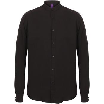 Abbigliamento Uomo Camicie maniche lunghe Henbury HB592 Nero