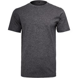 Abbigliamento Uomo T-shirt maniche corte Build Your Brand Round Neck Carbone