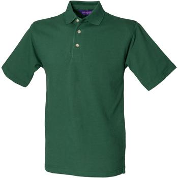 Abbigliamento Uomo Polo maniche corte Henbury HB100 Verde bottiglia