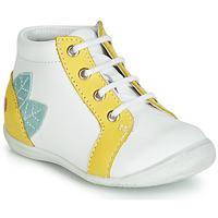 Scarpe Bambina Sneakers alte GBB FRANCKIE Bianco / Giallo