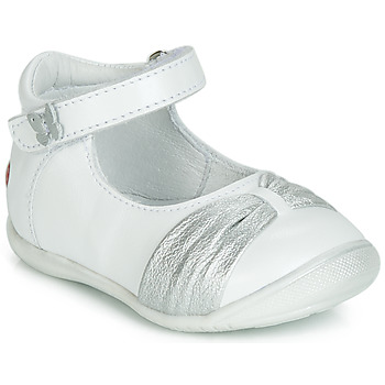 Scarpe Bambina Ballerine GBB MALLA Bianco / Argento