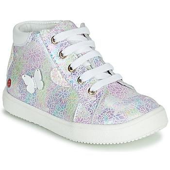 Scarpe Bambina Sneakers alte GBB MEFITA Argento / Rosa