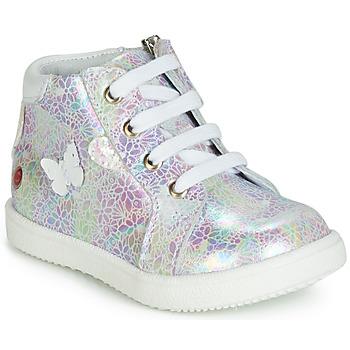 Scarpe Bambina Sneakers alte GBB MEFITA Bianco / Rosa