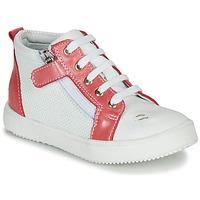 Scarpe Bambina Sneakers alte GBB MIMOSA Bianco / Rosa