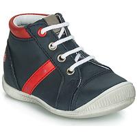 Scarpe Bambino Sneakers alte GBB TARAVI Marine / Rosso