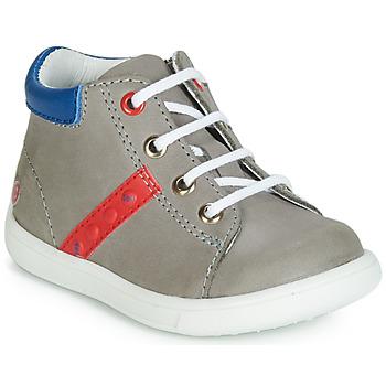 Scarpe Bambino Sneakers alte GBB FOLLIO Grigio / Blu