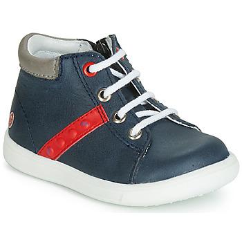 Scarpe Bambino Sneakers alte GBB FOLLIO Marine / Rosso