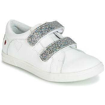 Scarpe Bambina Sneakers basse GBB BALOTA Bianco / Argento